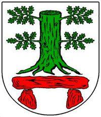 Das offizielle Wappen der Gemeinde Köhn